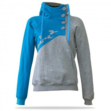 Spring G/BL – Women's pull hoodie with a stand-up collar