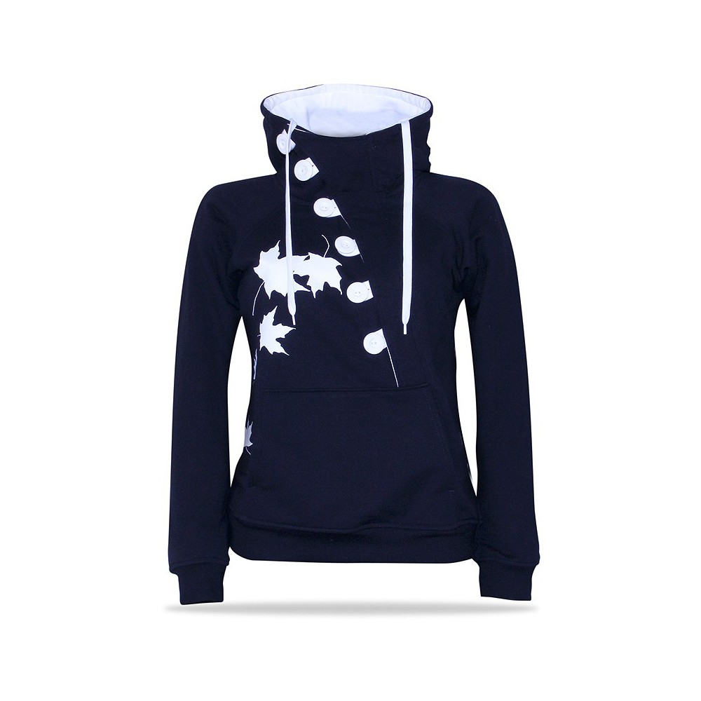 Button B/W – Women's pull over hoodie
