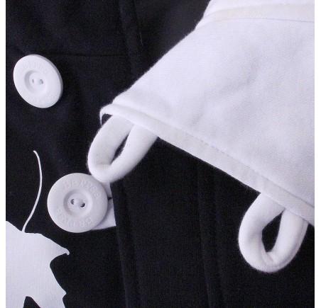 Dámská mikina s kapucí přes hlavu Barrsa Button B/W