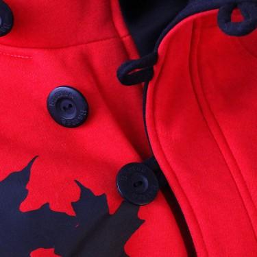 Dámská mikina s kapucí přes hlavu Barrsa Button R/B