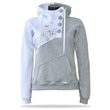 Spring G/|W – Women's pull hoodie with a stand-up collar