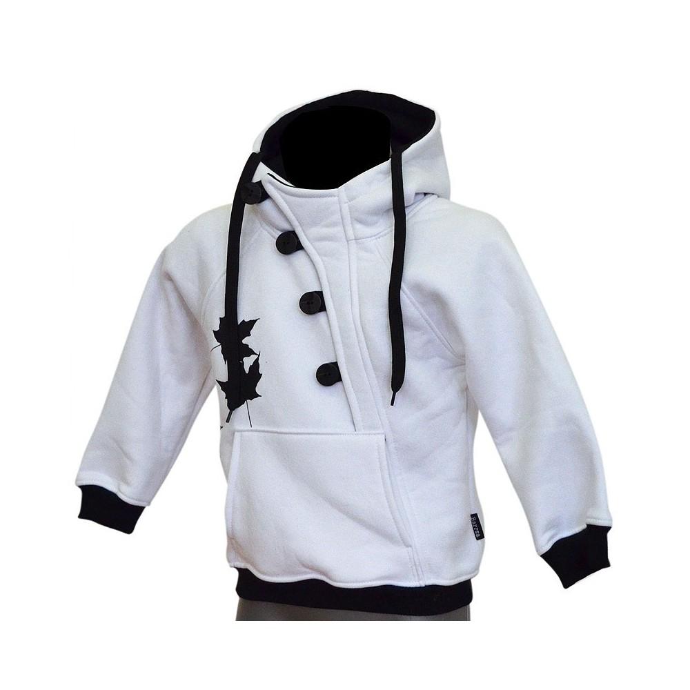 fc90891f171de Detská mikina s kapucňou cez hlavu Barrs Button Kids W / B   Barrsa ...