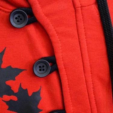 Dětská mikina s kapucí přes hlavu Barrsa Button Kids R/B