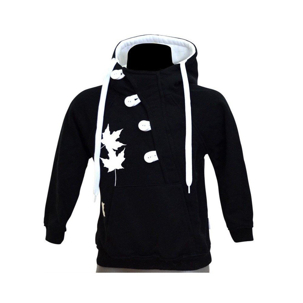 Button Kids B/W – kids' pull over hoodie