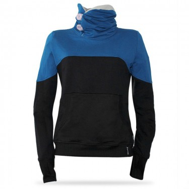 Barrsa Simple PET/BK – Women's pullover hoodie with a stand-up collar