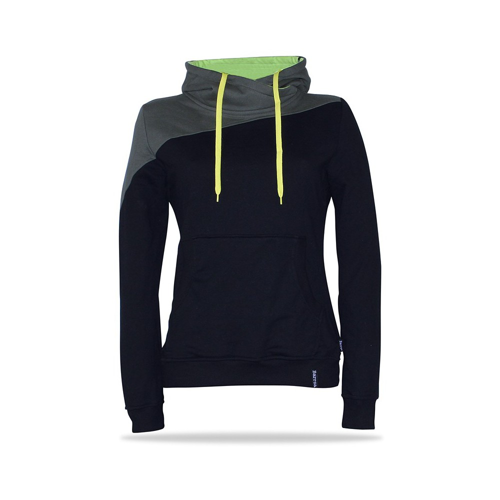Barrsa Double KHK/BK – Women's pullover hoodie with a hood