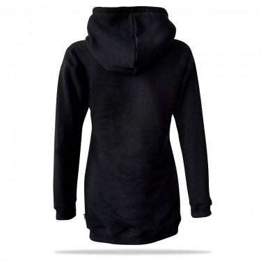Barrsa Goldie Long BLK – Women's pullover hoodie with a hood