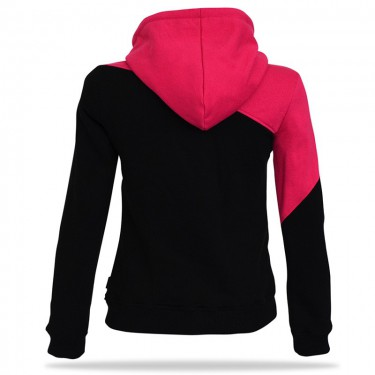 Barrsa Multicolor BK/PUR – Women's pullover hoodie with a hood