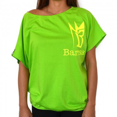 Damen T-Shirt Barrsa Loosey Top LIME