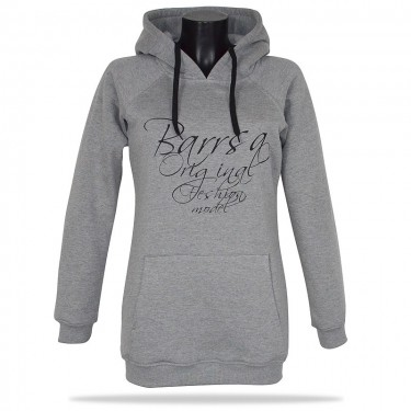 Barrsa Original Long GRY/BK – Women's pullover hoodie with a hood
