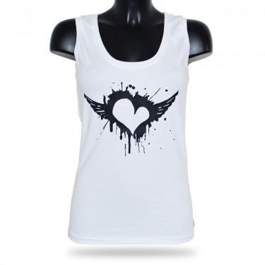Dámské tílko Barrsa - Summer Lady Heart - white/black