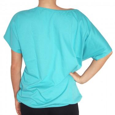 Dámské tričko Barrsa Loosey Script Top Turquoise