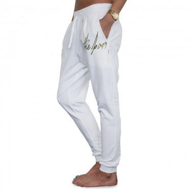 Sweatpants Barrsa Denc 2 White/Gold