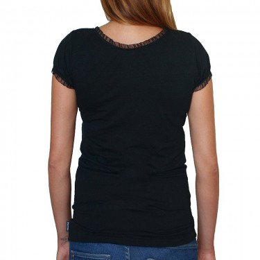 Women's t-shirt Barrsa Summer Lace Tee Black