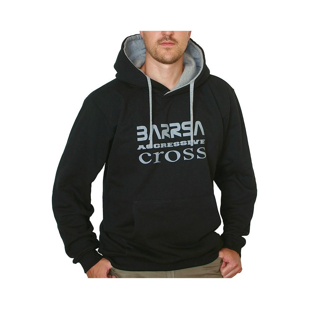 Pánská mikina Barrsa Cross Black/Grey