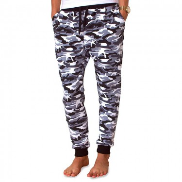 Damen Jogginghose Barrsa Denc 2 Grey Camo