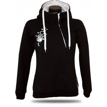 New Galax B/W – Women's pull over hoodie