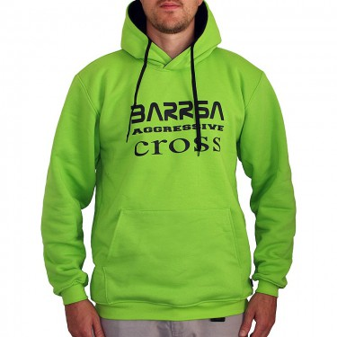 Barrsa Cross – Men's hoodie Black/Grey