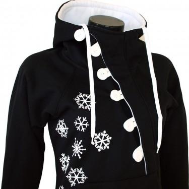 Dámská mikina s kapucí přes hlavu Barrsa Frozen Black/White