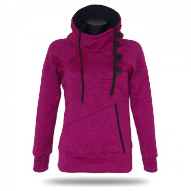 Barrsa Snow Pink/Melange - Damen Sweatshirt mit stehenden Kragen über den Kopf