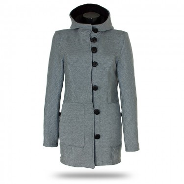 Women's button-down coat Barrsa Princess Coat Black