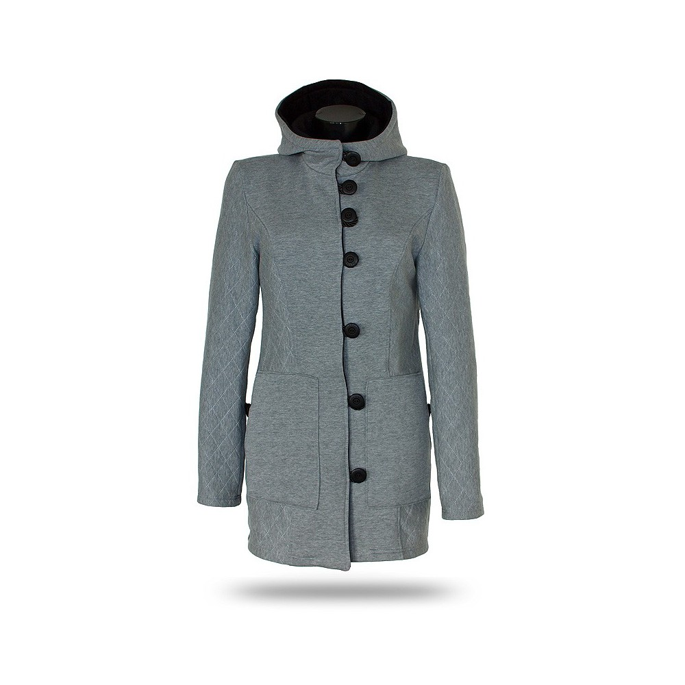 Women's button-down coat Barrsa Princess Coat Black