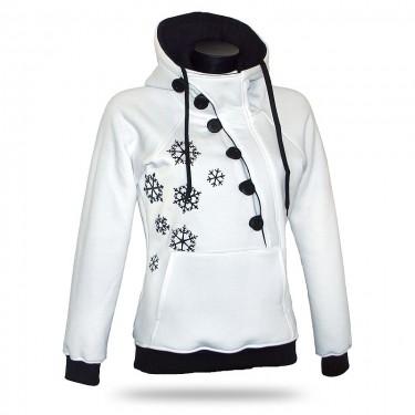 Barrsa Frozen Black/White – Women's pull over hoodie
