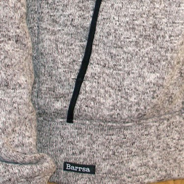 Dámska mikina s kapucňou cez hlavu Barrs Snow Turq / Melange