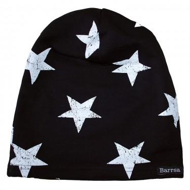 Dámský kulich Barrsa Beanie Black/White Stars