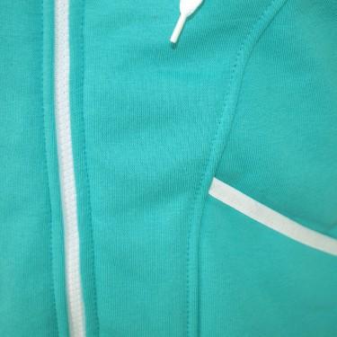 Dámská softshell bundomikina s kapucí na zip Barrsa Double Soft Script Mint/White
