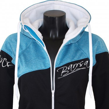 Dámská softshell bundomikina s kapucí na zip Barrsa Double Soft Script Blue/Black