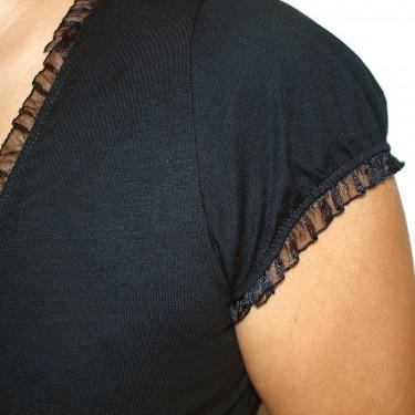 Dámské tričko Barrsa Summer Lace Tee Black