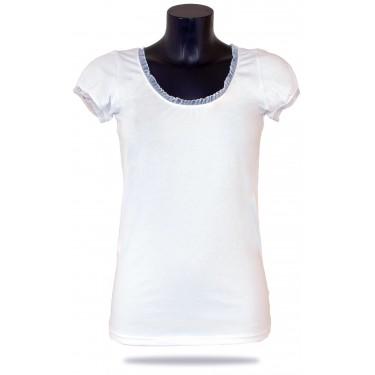 Women's t-shirt Barrsa Summer Lace Tee White