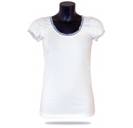 Dámské tričko Barrsa Summer Lace Tee White