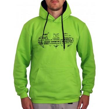 Barrsa Classic Batbike / Lime– Men's hoodie