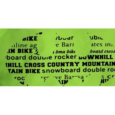 Pánska mikina s kapucňou Barrs Classic Batbike / lime