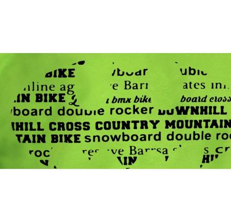 Pánská mikina s kapucí Barrsa Classic Batbike / Lime