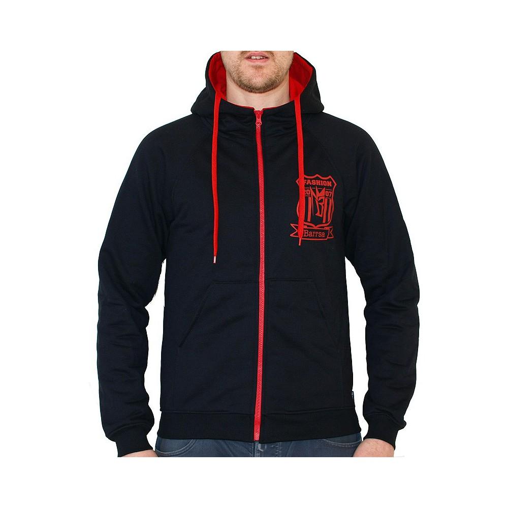 Pánská mikina s kapucí Barrsa Champion Zip Black/Red