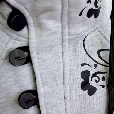 2. Barsen Grey - Dámská mikina se stojáčkem rozepínací