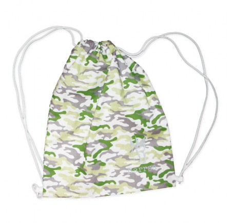 Rucksack Barrsa Cinch Bag Black/White