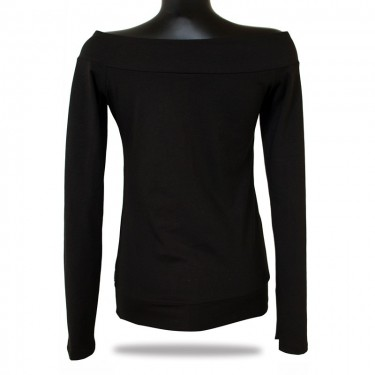 Ladies T-shirt with long sleeves Barrsa Lady black