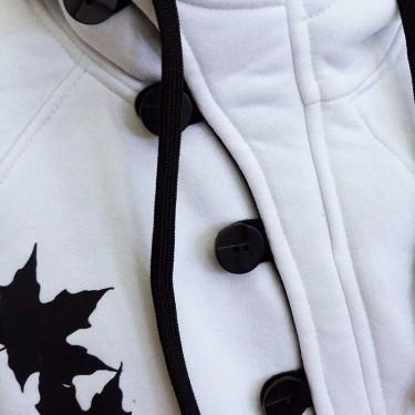 Button W/B - Dámská mikina s kapucí přes hlavu