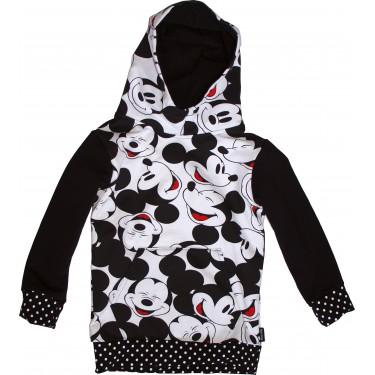 Detská mikina s kapucňou cez hlavu Barrs Button Kids R / B