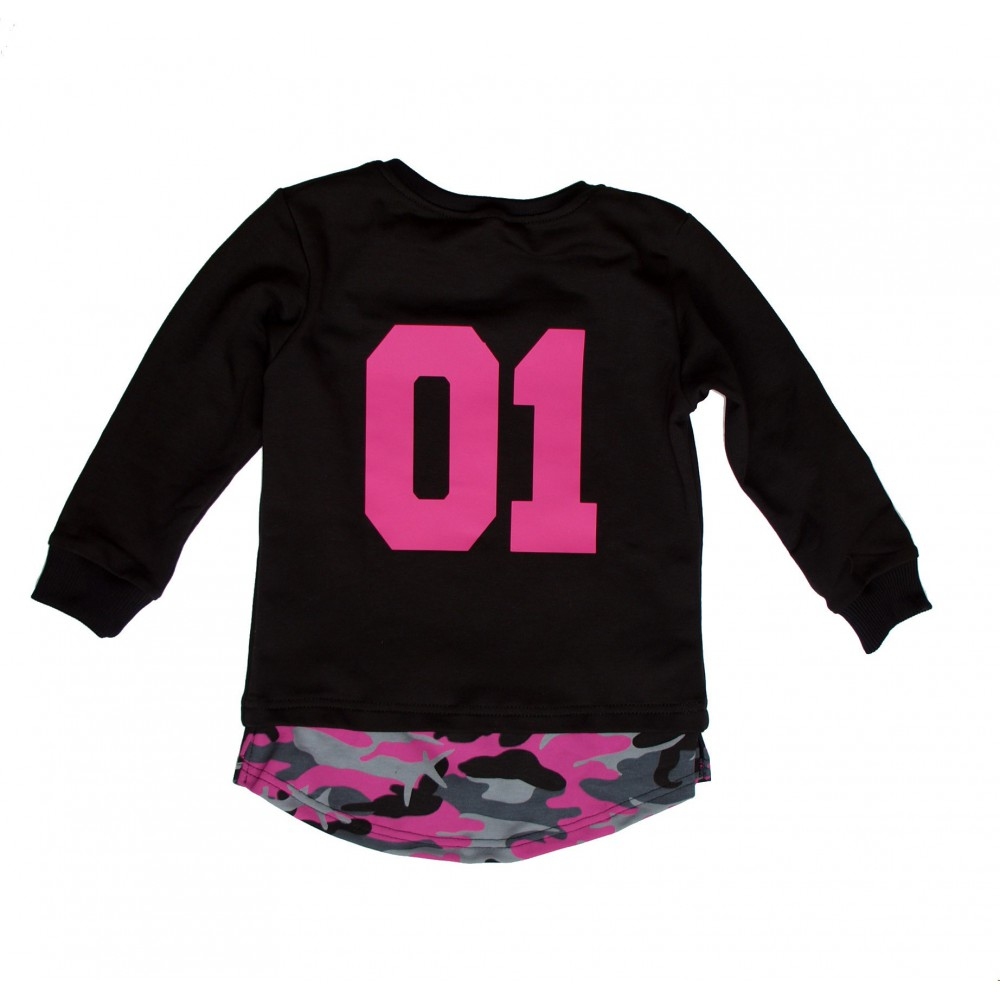 Button Kids camo / pink – kids' pull over hoodie