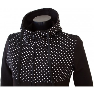 Dámská mikina s kapucí a zipem Barrsa Laris Dots/Black