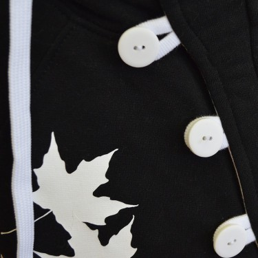 Button + Button Kids B/W - Dámská + dětská mikina s kapucí přes hlavu
