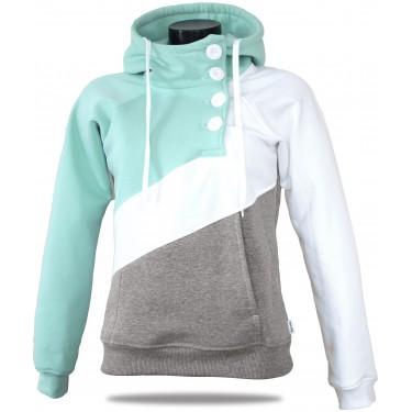 Women's luxury sweatshirt Barrsa Tricolor Menthol/Gray