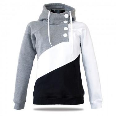 Damen Luxus-Sweatshirt Barrsa Tricolor Black/Grey