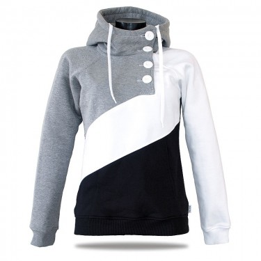 Women's luxury sweatshirt Barrsa Tricolor Black/Gray