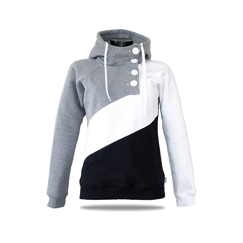 Dámská luxusní mikina Barrsa Tricolor Black/Grey